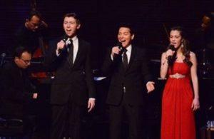 Songbook singers onstage