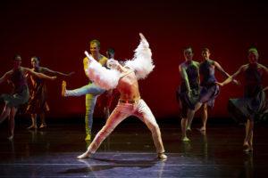 Brandon Comer dancing onstage