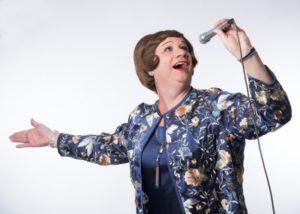 Lillian Baxter at the mic
