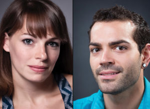 Caitlin Negron & Timothy June headshots